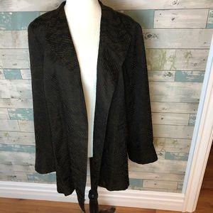 Eileen Fisher open front silk blend blazer size XL
